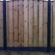 hout beton schutting antraciet 19 planks toog met afdeklat