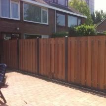 hout beton schutting antraciet sponningpalen 17 planks hardhouten schuttingschermen